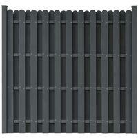 Panneau de clôture WPC avec 2 poteaux 180x180 cm Carré Gris