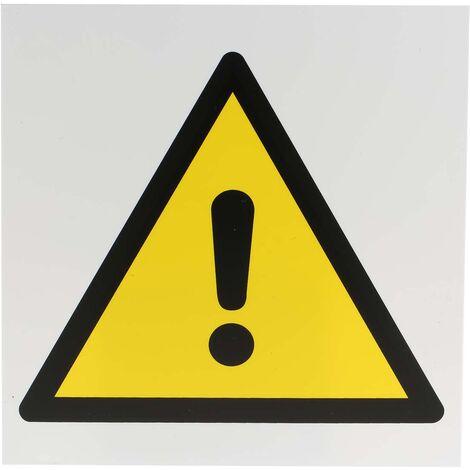 Panneau de danger, avec pictogramme : Danger général