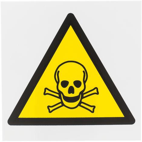 Panneau de danger, avec pictogramme : Danger matières toxiques