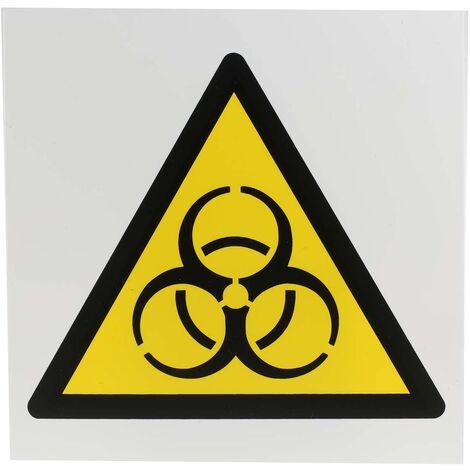 Panneau de danger, avec pictogramme : Danger, risque biologique