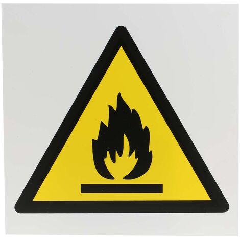 Panneau de danger, avec pictogramme : Matières inflammables