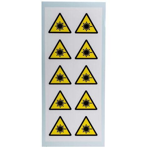 Panneau de danger, avec pictogramme : Radiation