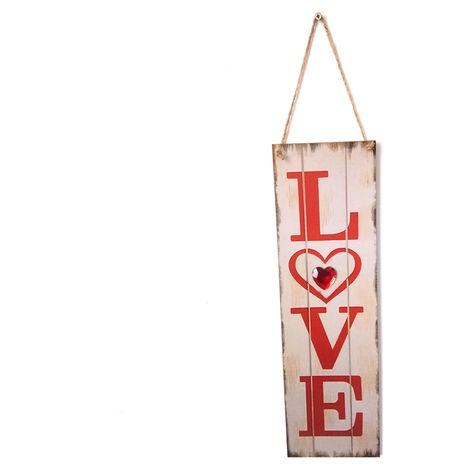 Panneau De Decoration Mural En Bois, Cadeau De Saint Valentin