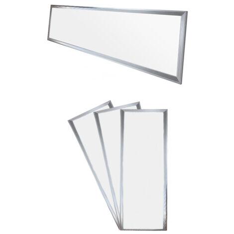 Panneau de DPE LED 42W Allemagne - 120 x 30 cm - 3 er-Pack - Ultraslim mince - SMD 3014 - Neutral White 4000K - 220-240 V - environ 2831 lumens - Plafonnier encastré