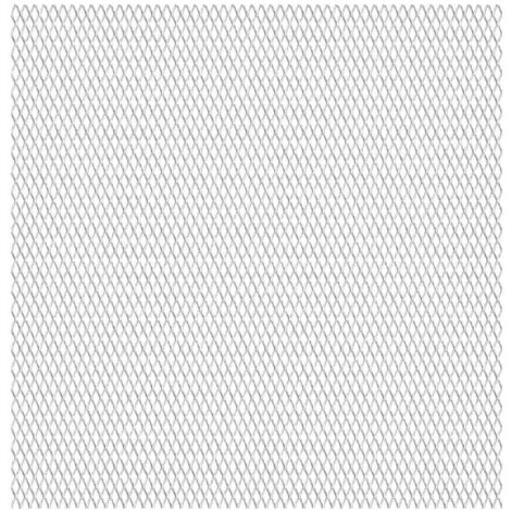 Panneau de grillage de jardin Acier inox 100x85 cm 30x17x2,5 mm