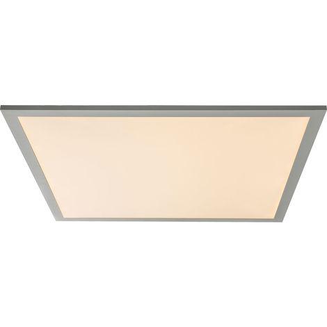Panneau de plafond LED en saillie, aluminium, L 62,5 cm, MARZO