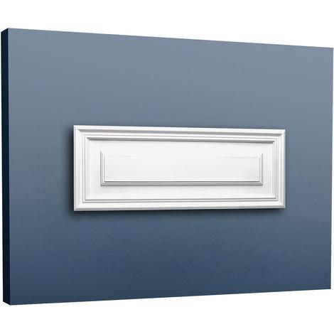 Panneau de porte aplati Elément Orac Decor D504 LUXXUS décoratif avec profil pour le mur et la porte