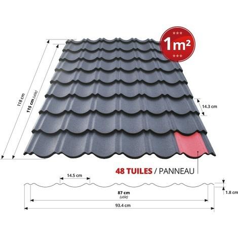 Panneau De Tuile Repositionnable Bacacier 1m² L115cm X L87cm Couleur Quartz Tuile R Pro