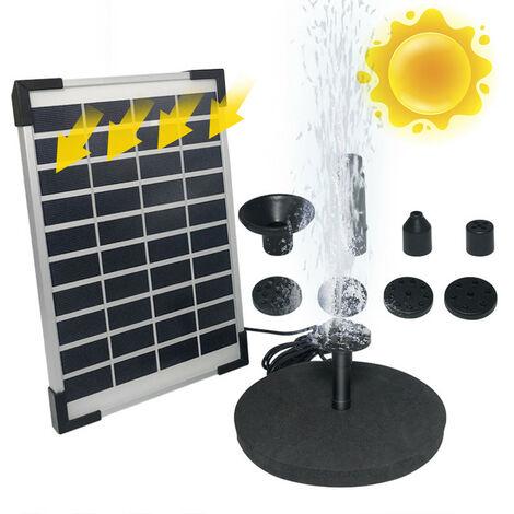 Panneau d'eau solaire Power Geyser Pump Kit Piscine Jardin Bassin Arrosage Submersible Argent