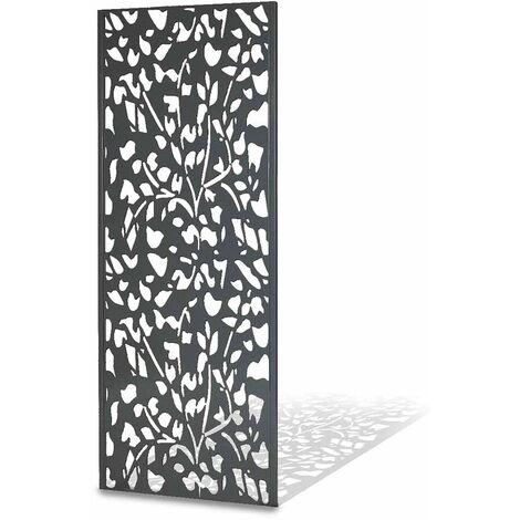 """main image of """"Panneau décoratif extérieur métal 160 x 60 cm gris 160 - gris"""""""