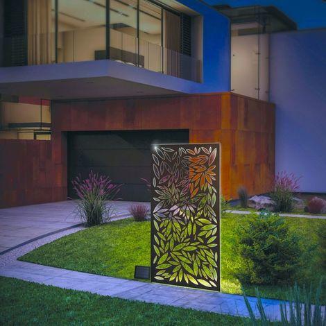 Panneau Décoratif lumineux solaire en métal 60x120cm - Metal brun NORTENE - Metal brun NORTENE