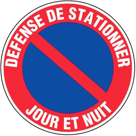 Panneau Défense de stationner - Jour et nuit - Novap