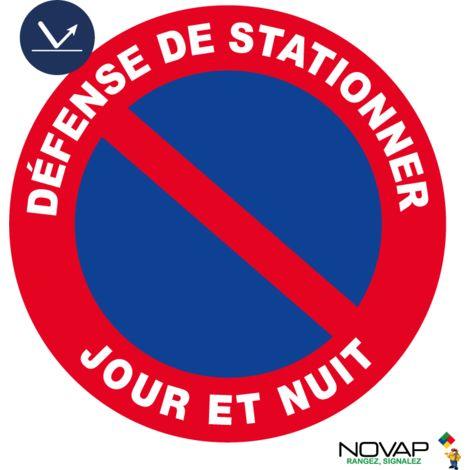 Panneau Défense de stationner - Jour & Nuit - Classe 1 - Ø300mm - 4068084