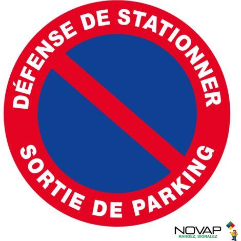 Panneau Défense de stationner - Sortie de parking - Novap