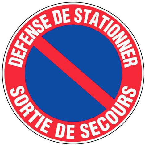 Panneau Défense de stationner - Sortie de secours - Novap