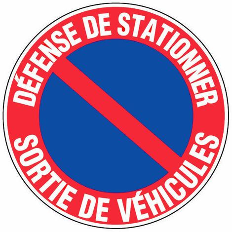 Panneau Défense de stationner - Sortie de véhicules - Novap