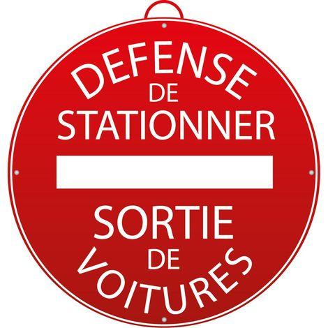 Panneau Défense de stationner - Sortie de voitures - Mob/Mondelin