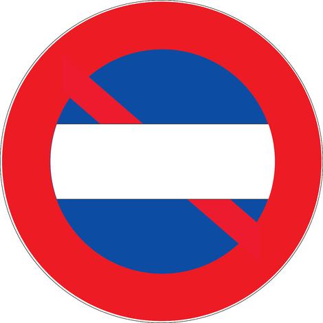 Panneau Défense de stationner + zone neutre - Novap