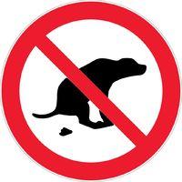 Panneau Déjection canine interdite - Novap