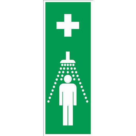 Panneau Douche de sécurité symbole (en hauteur) - Rigide 330x120mm - 4140476