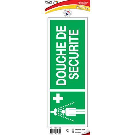 Panneau Douche de sécurité - Vinyle adhésif 330x120mm - 4230351