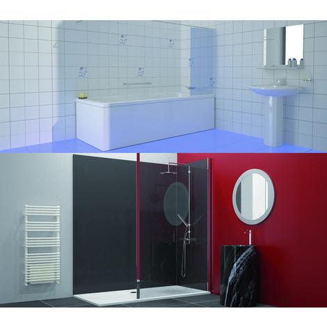 Panneau douche Décofast pack standard - Lazer - 2 plaques + profilés blanc - 2000x900mm