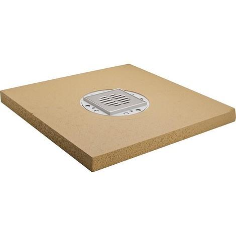 Panneau douche standard ecoulement horizontal, centre 1000x1000x50 mm, hauteur 120 mm