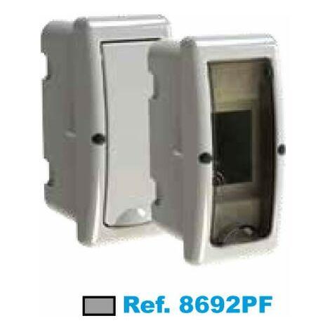 Panneau électrique encastré 2 éléments fumé Solera Arelos 8692PF