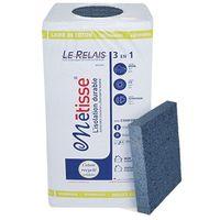 Panneau en laine de coton recyclé LE RELAIS METISSE - 600 x 1200 mm - 50mm (R : 1,28) | paquet(s) de 8.64 m² - 12 panneaux