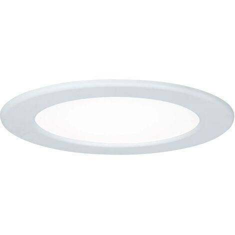 Panneau encastrable LED - Chrome mat - 12W - 4000K - IP44 - Non dimmable - Avec ampoule
