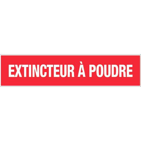 Panneau Extincteur à poudre - Rigide 330x75mm - 4120409