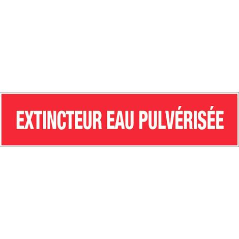 Panneau Extincteur eau pulverisée - Rigide 330x75mm - 4120416