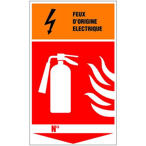 Panneau Extincteur feu d'origine éléctrique - Rigide 330x200mm - 4034904