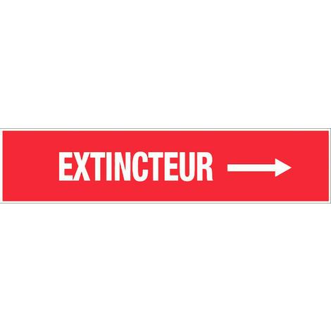 Panneau Extincteur flèche à droite - Rigide 330x75mm - 4120430