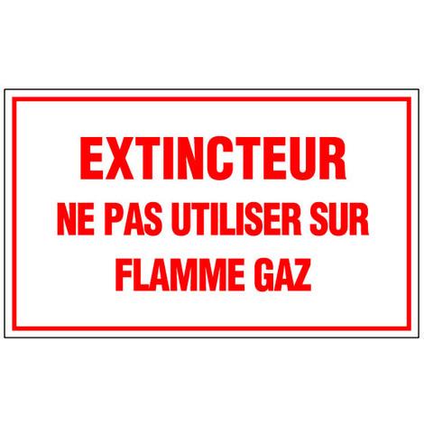 Panneau Extincteur Ne pas utiliser sur gaz - Rigide 330x200mm - 4160818