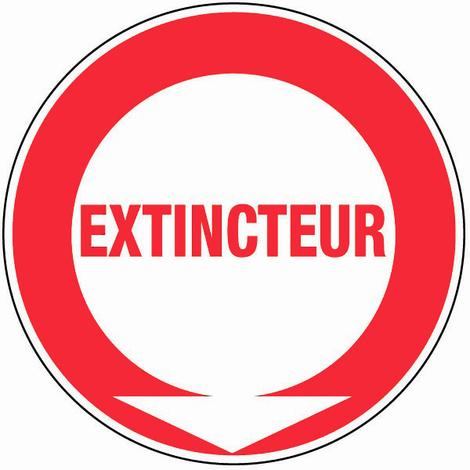 Panneau Extincteur (texte) - Rigide Ø180mm - 4040110