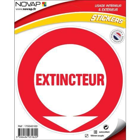Panneau Extincteur (texte) - Vinyle adhésif Ø180mm - 4031620