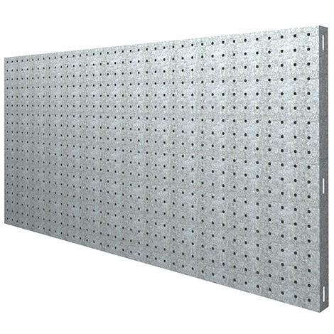 Panneau fond perforé L. 1200 x Ht. 600 mm KIT PANELCLICK 1200x600 GALVA - 707100024126001 - Simonwork - -