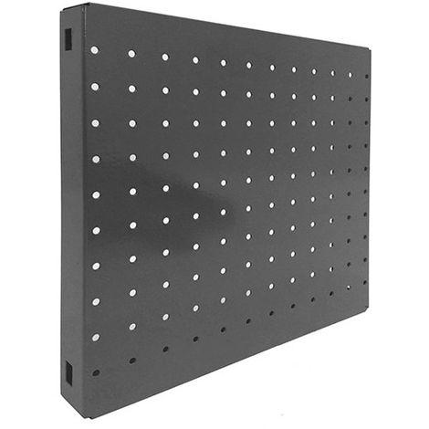 Panneau fond perforé L. 300 x Ht. 300 mm SIMONBOARD PERFORE 300x300 GRIS FONCE - 3016130302 - Simonhome - -