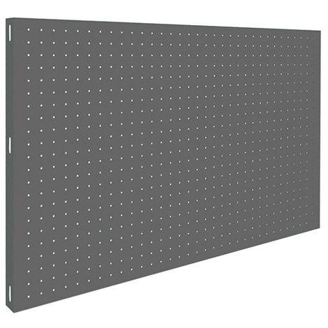 Panneau fond perforé L. 900 x Ht. 600 mm KIT PANELCLICK 900x600 GRIS FONCE - 303100024906001 - Simonwork - -