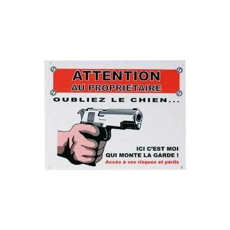 """main image of """"PANNEAU FR - OUBLIEZ LE CHIEN"""""""