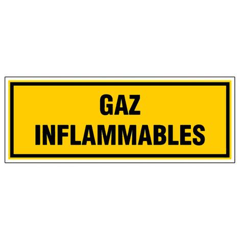 Panneau Gaz inflammable - Rigide 330x120mm - 4035017