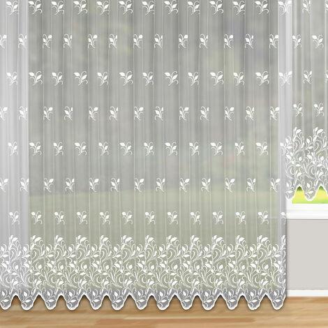 Panneau grande largeur à galon fronçeur Blanc 300 x 245 cm - Blanc