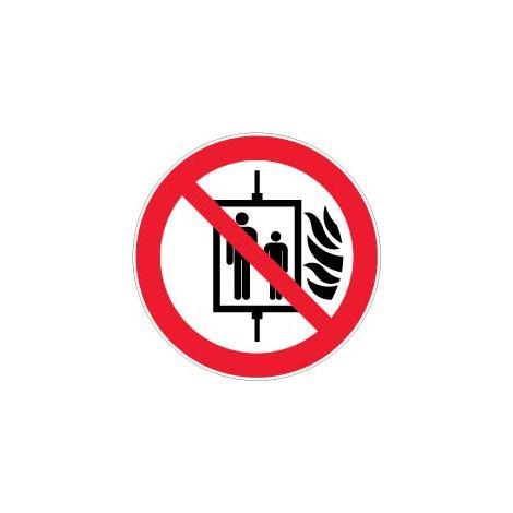 """main image of """"Panneau Interdiction d'utiliser l'ascenseur en cas d'incendie - Novap"""""""
