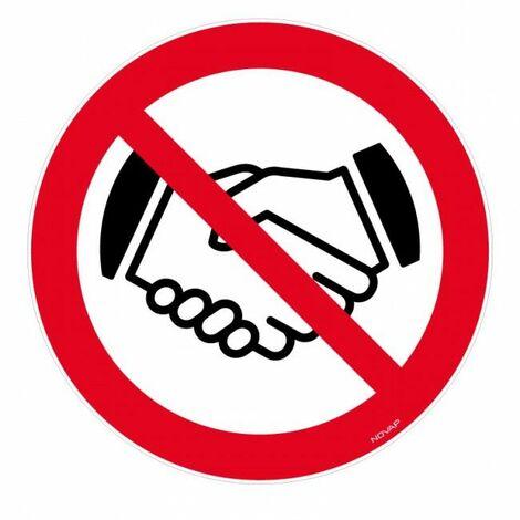 Panneau Interdit de se serrer la main - Novap