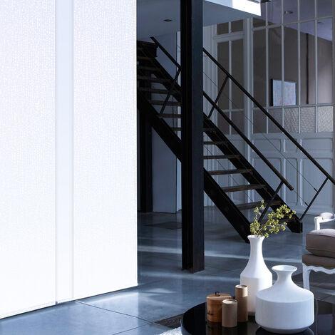 Panneau japonais Tamisant Manhattan 50cm - Blanc - L50 x H250cm - Blanc