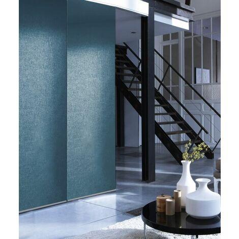 """main image of """"Panneau Japonais Tamisant Uni - Bleu Denim - L45 x H260cm - Bleu Denim"""""""