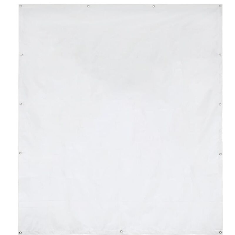 Panneau latéral de tente de réception PVC 2x2 m Blanc 550 g/m2