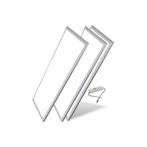Panneau LED 120x30 Slim 48W Alu (Pack de 3) - Blanc Froid 6000K - 8000K
