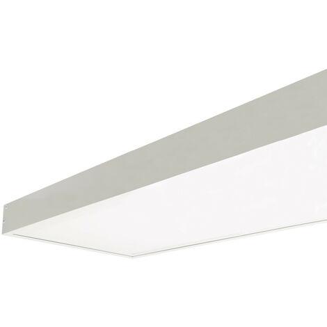 Panneau LED 120x30cm 40W 4000lm (UGR17) LIFUD + Kit en Saillie Blanc Neutre 4000K - 4500K - Blanc Neutre 4000K - 4500K